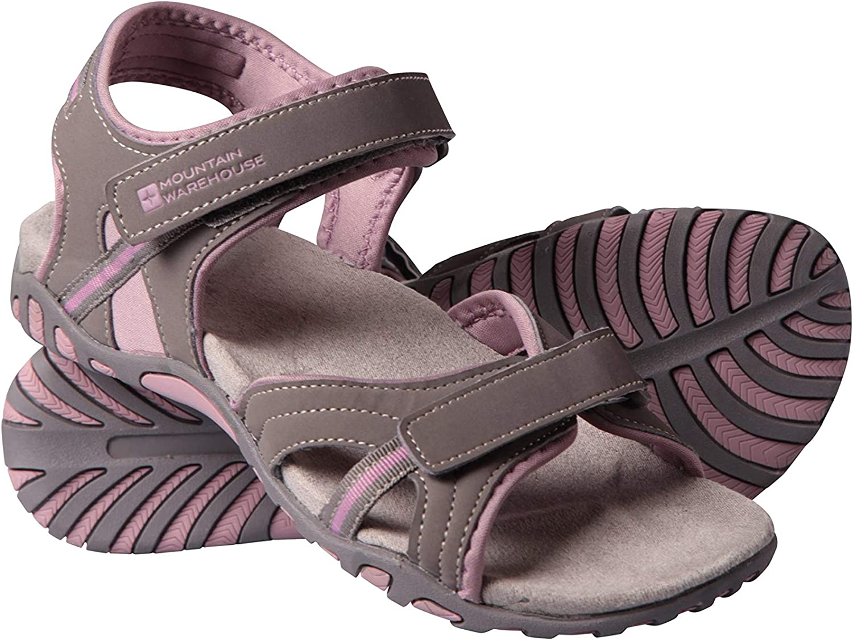 Mountain Warehouse Sandalias Oia Mujer - Zapatos Ligeros de Verano, Flexibles, Espuma amortiguadora, Cierre de Gancho y Bucle - para Caminar, Viajar, el Verano Rosa Talla Zapatos Mujer 37 EU