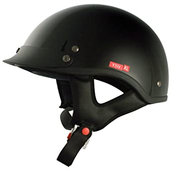 Casco Motocicleta Cruiser Half Helmet Solid Gloss Black X-Large