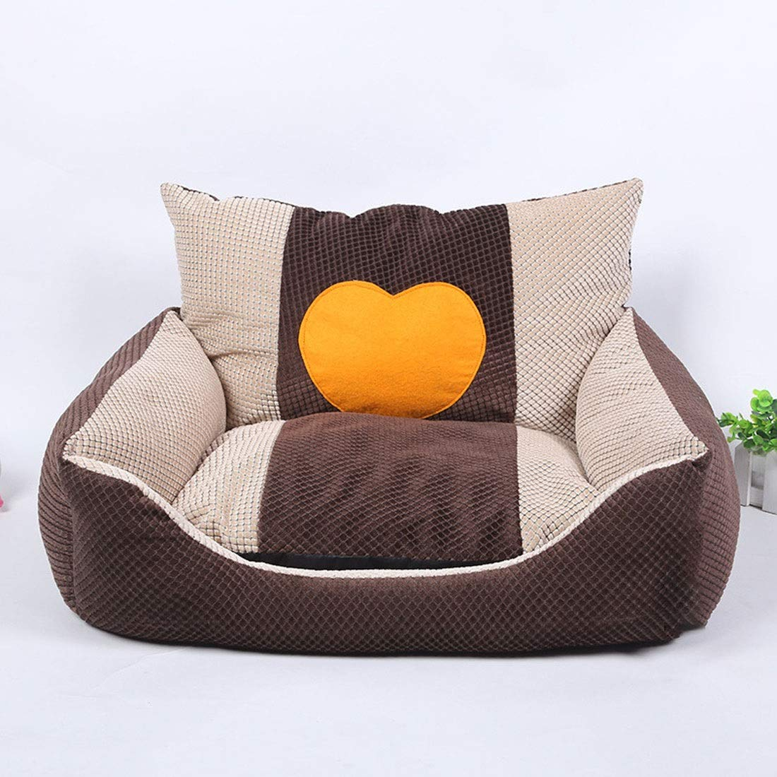 Pink day-us Pet Bed Autumn and Winter Warm Pet Supplies Nest Dog Mat Cat Litter 53  43  30CM