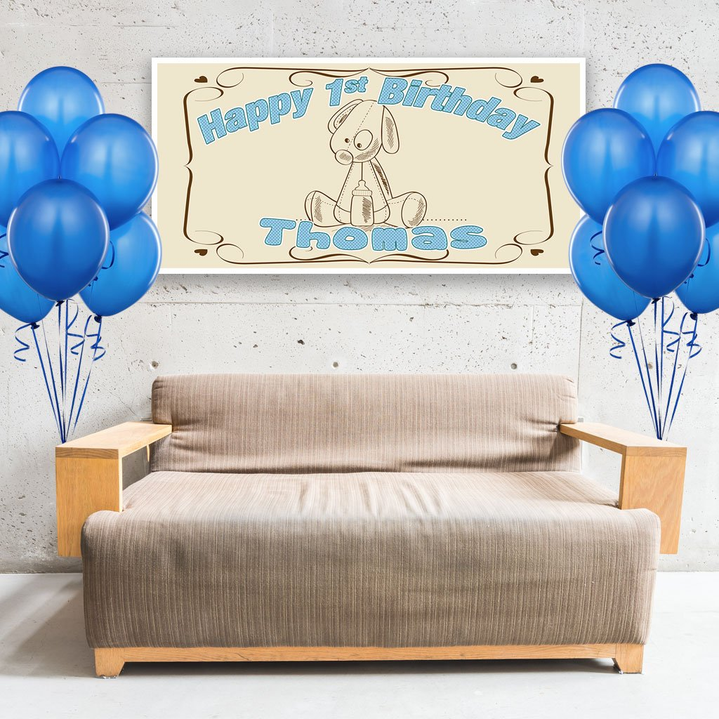 Rag Doll First Birthday Banner Personalized Backdrop
