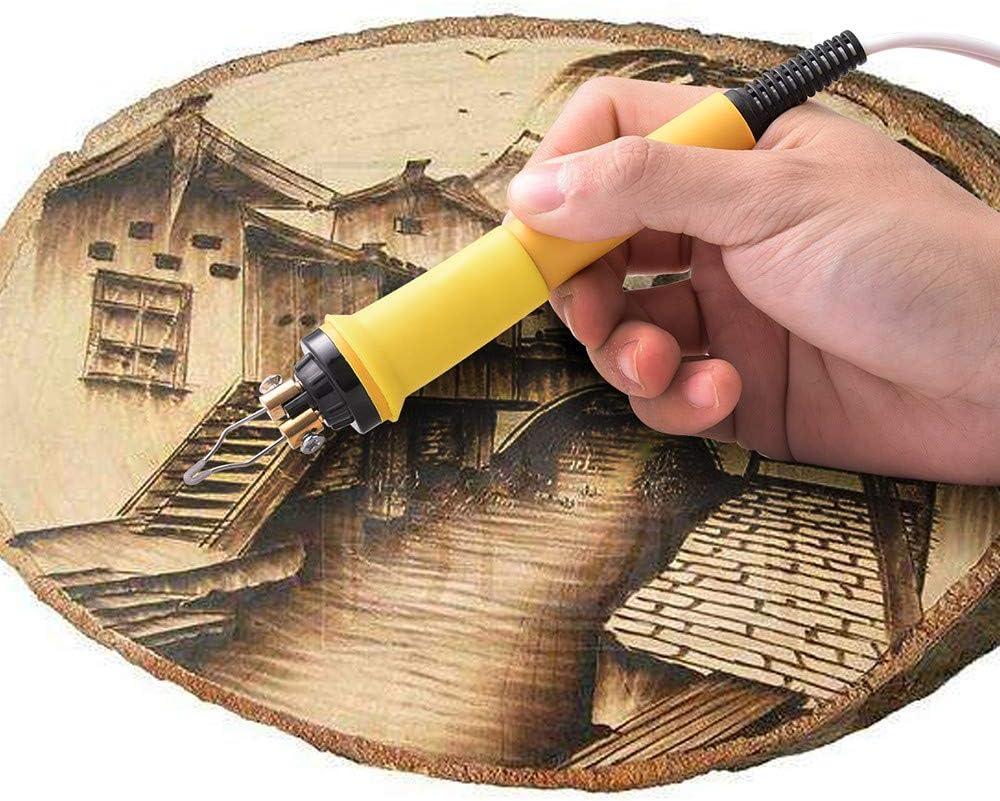se puede aplicar a materiales como madera o cuero KKTECT Kit de quema de le/ña actualizado con 20 puntas de soldador de aleaci/ón de resistencia doble puerto + pantalla digital