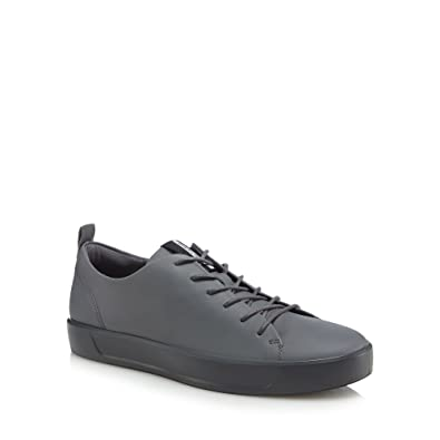 Grey leather 'Ennio' trainers
