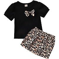 Conjunto de manga corta para niñas pequeñas, de color liso, pantalones cortos de 2 piezas, 6 a 10 años