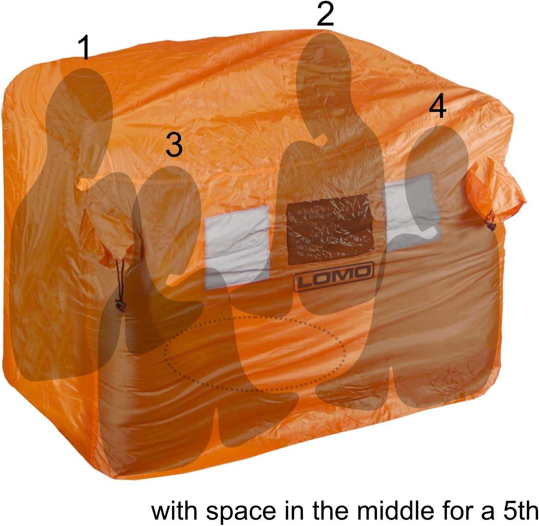 Lomo Refugio de Emergencia para tormentas 5 Personas para Acampar y Kayak Bolsa para 4