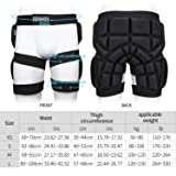 Huntvp Protective Hip Pad Padded Short Hip Butt Ski Protective Pants for Skiing (M) Black