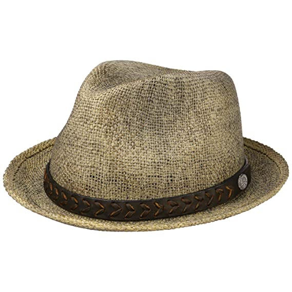 2c56bdf29b2de8 Stetson BBQ Toyo Player Hat Straw Men | Sun Summer Beach with Leather Trim  Spring-Summer: Amazon.co.uk: Clothing
