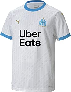 PUMA 2020-2021 Olympique Marseille Home Football Soccer T-Shirt Jersey (Kids)