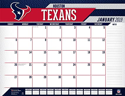 Texans Calendar 2019 Amazon.: Turner Licensing Houston Texans 2019 Desk Calendar