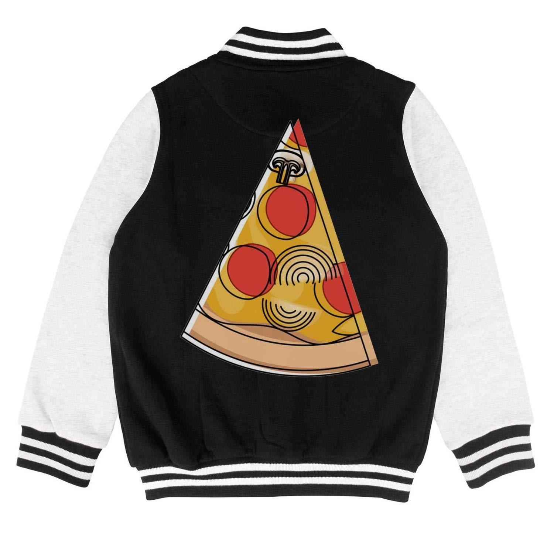 PoPBelle Kids Cartoon Pizza Slice Teen Girls Training Jacket for Girls Boys Toddler Soft Coats
