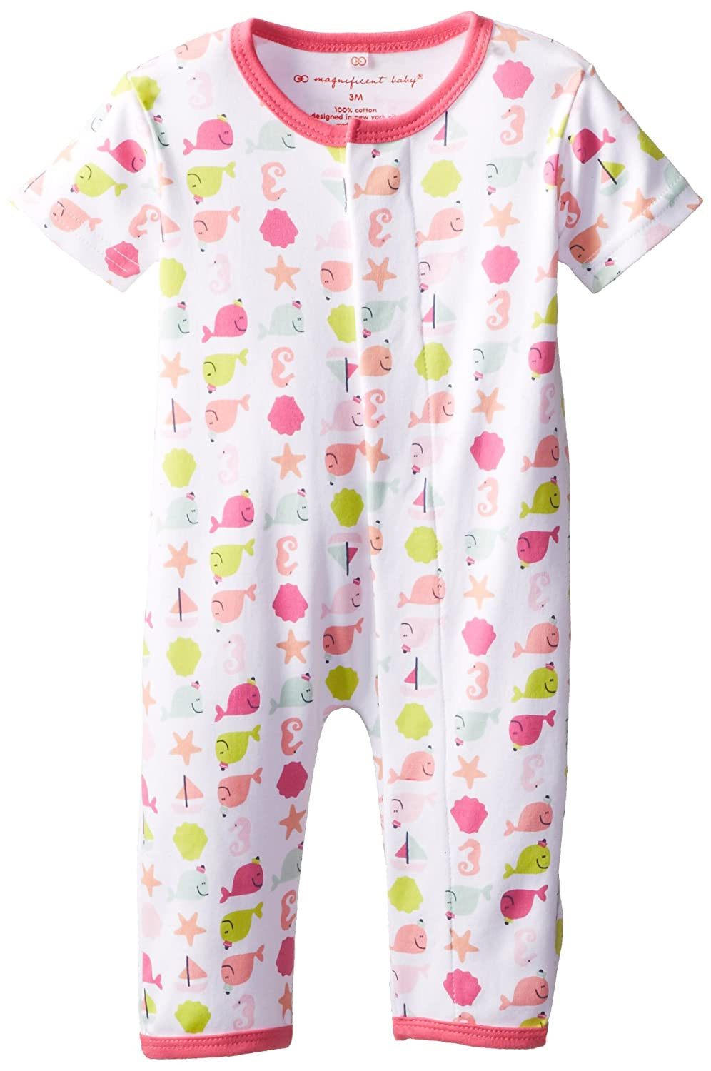 Nantucket 9 Months Magnificent Baby Girls Short Sleeve Union Suit