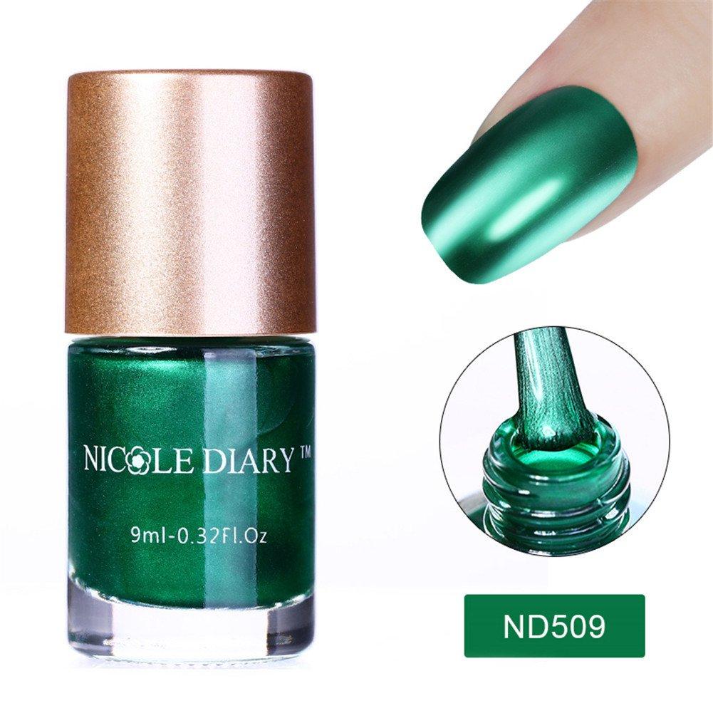 NICOLE DIARY 5 Bottles Smalto effetto smalto per unghie metallizzato Smalto per unghie lucido colorato in metallo (5 colori)