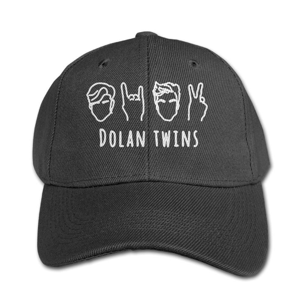 Mollie Storey DOLAN TWINS Trucker Sanpback Cap Hat Twill Cap For Boys And Girls Black