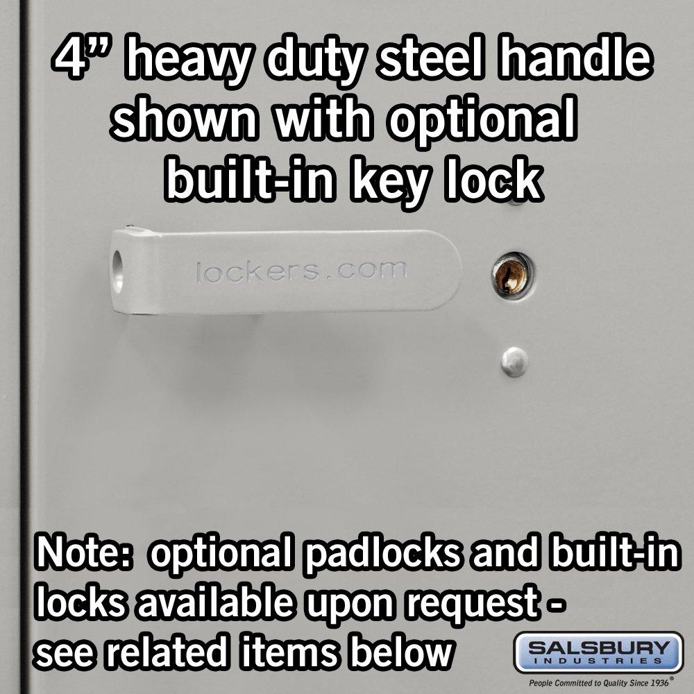 Salsbury Industries 8174GRY-U Wardrobe Heavy Duty Storage Cabinet, Unassembled, Gray