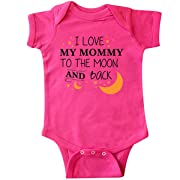 inktastic - I Love My Mommy to The Moon Infant Creeper Newborn Hot Pink 29673