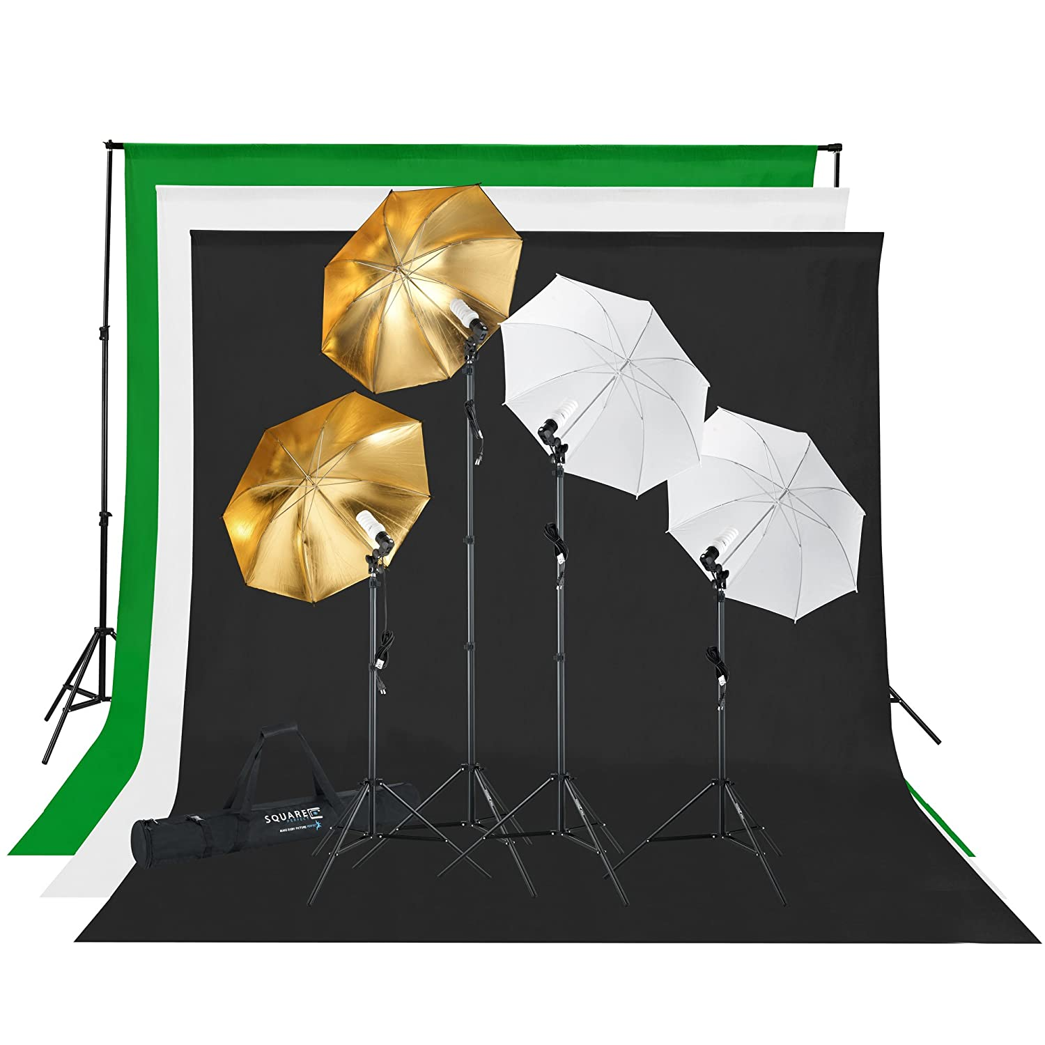 Amazon.com  Square Perfect 2814 Professional Quality Photography Studio Lighting and Background Kit with Muslin Backdrops  Photo Studio Backgrounds ...  sc 1 st  Amazon.com & Amazon.com : Square Perfect 2814 Professional Quality Photography ... azcodes.com