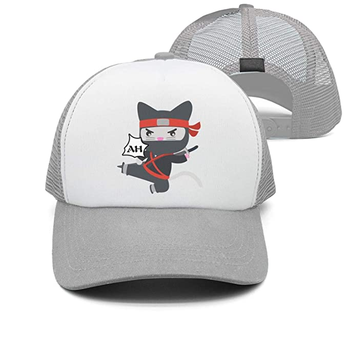 Ninja Stars and CAT Unisex Trucker Hats Summer Hats Mesh ...