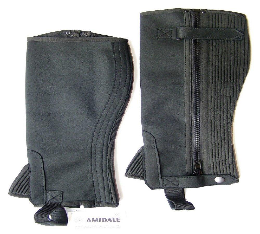 Chaps d'équitation équitation Noir lavable Amara Bnwt