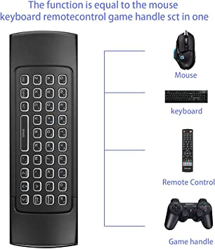 MX3B 2.4G Wireless Air Fly Mouse Keyboard Remote Control for Android Backlight
