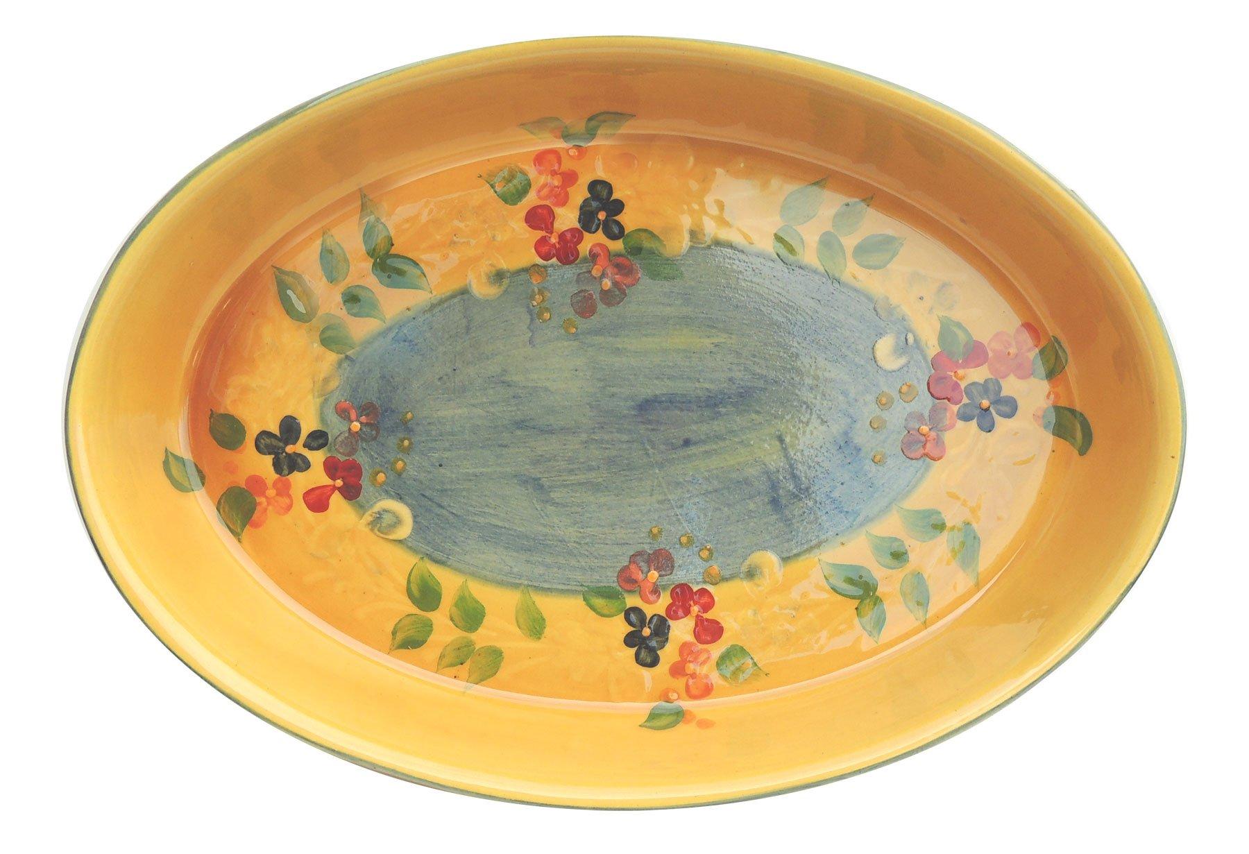 Souleo Provence Pottery - Oval Gratin Dish - Provence