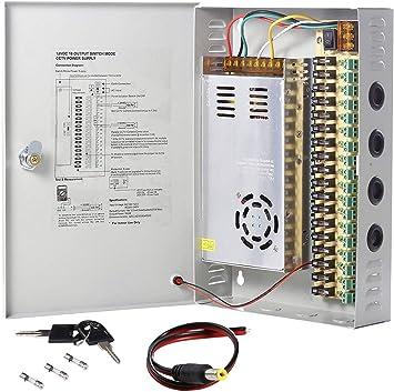 UHPPOTE Caja de Interruptor de Fuente de alimentación CCTV cámara distribución DC12V: Amazon.es: Electrónica