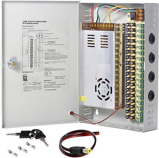 18 CH Power Supply CCTV Camera 18 Port 12V DC Pigtail Auto Reset 10 AMP