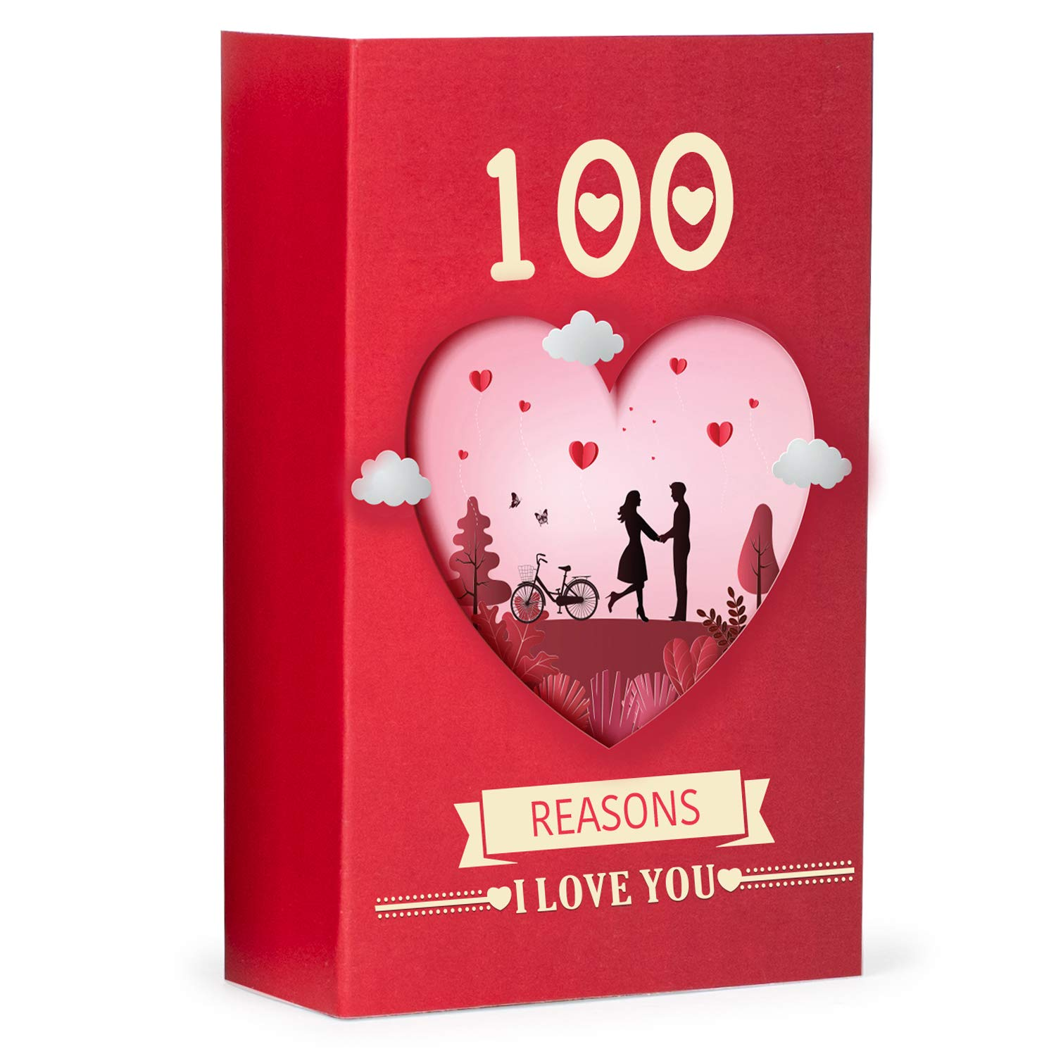 100 Reasons I Love You: Romantic Gift Box with Love Messages for Couples