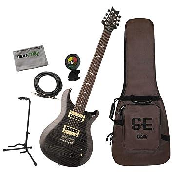 PRS SE SVN Seven - Guitarra eléctrica de 7 cuerdas con bolsa, cable