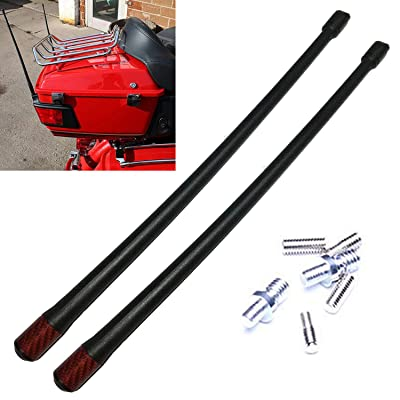 Cara 13'' Harley Short Antenna Mast Harley Davidson Antenna Flexible Rubber AM/FM for 1989-2020 Harley Davidson Electra Road Tour Ultra Classic Red Antenna New Pack of 2: Car Electronics