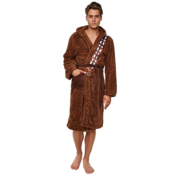 Star Wars Chewbacca Dressing Gown Bathrobe - Chewbacca Size - One ...