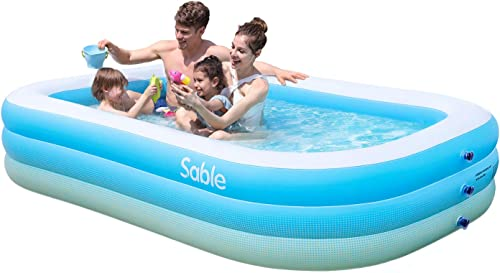 Sable-Inflatable-Pool,-Blow-up-Kiddie-Pool-for-Family,-Garden,-Outdoor,-Backyard,-92