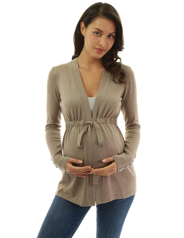 PattyBoutik Mama c/árdigan de Maternidad con Manga Larga y Lazo de Maternidad