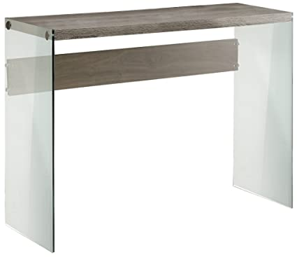 Awesome Monarch Specialties I 3055, Console Sofa Table, Tempered Glass, Dark Taupe,  44u0026quot