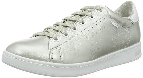 Geox D Jaysen a, Zapatillas para Mujer, Plateado (Silver), 42 EU