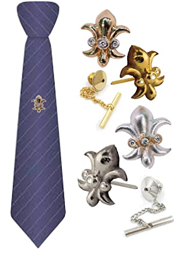 4 Different Lapel Pin Styles in Gold or Silver