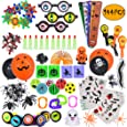 ebuddy 144pc Halloween Toys and Novelty Assortment for Halloween Party Favors, School Classroom Rewards, Trick or Treating, Halloween Miniatures, Halloween Prizes
