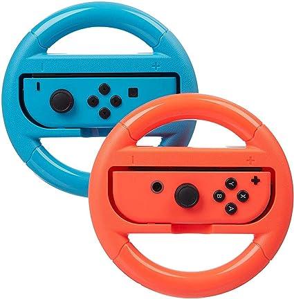 Volante para Nintendo Switch – Azul/Rojo (2 unidades): Amazon.es ...