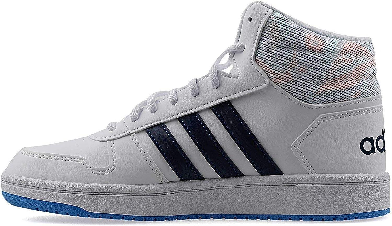 Détails sur Adidas Hoops Milieu 2.0 EE8546 Blanc Chaussures Femme Enfant Baskets Gymnastique