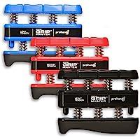 Gripmaster - Ejercitador de mano (3 unidades), color azul, rojo y negro