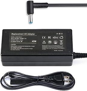 11-n010dx 11-n011dx 11-k120nr 11-k128ca 11-u018ca 11-u006tu Ac Laptop Charger for HP Pavilion x360 11 13 14 Series 11-n 11-k 11-u Power Cord 45W