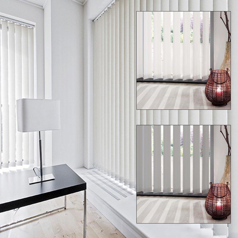 Cortina corredera de lamas verticales, 89 mm, tela, weiß, 250 x 260 cm: Amazon.es: Hogar