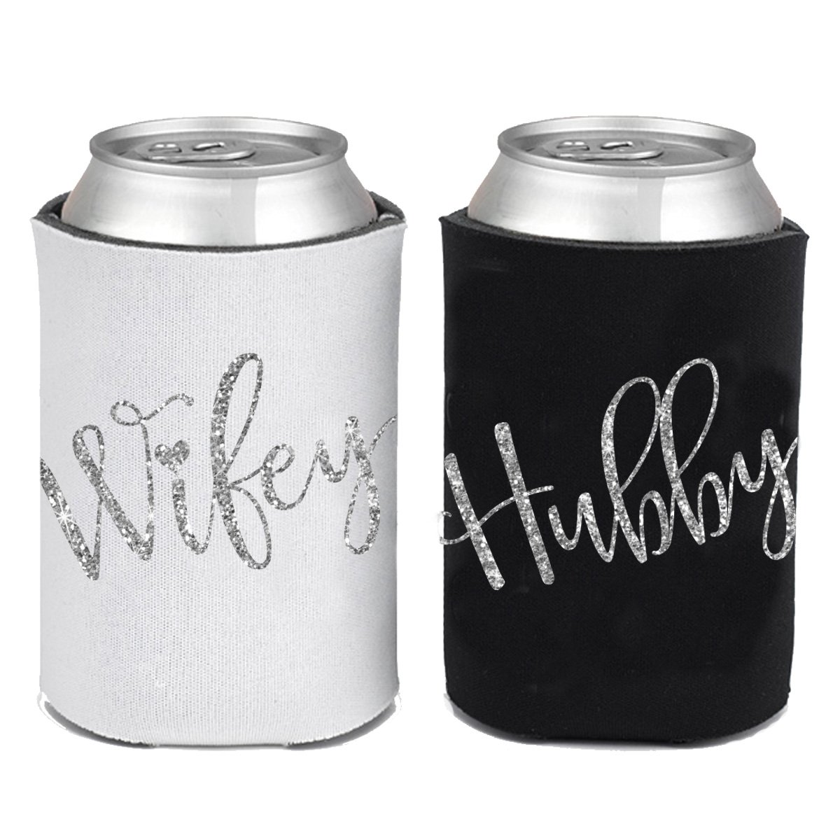 Amazon.com: Bride and Groom Can Coolie Can KOOZIE Set for Wedding ...
