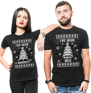 Silk Road Tees Pareja de Navidad Divertida de los Hombres ...
