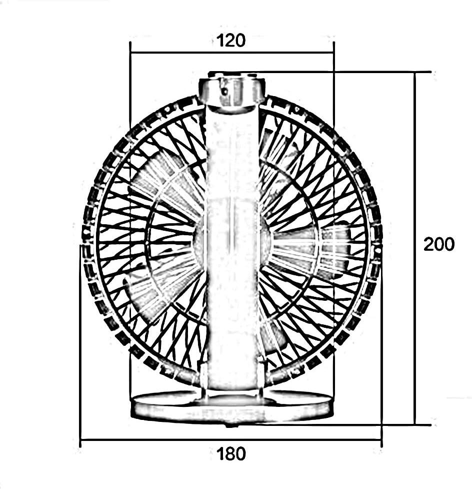 Ventilatore elettrico Chunlan Sunhat Portatile tenuto in Mano del dormitorio Ricaricabile tenuto in Mano del Mini Ventilatore di USB (Colore : Nero) Bianca
