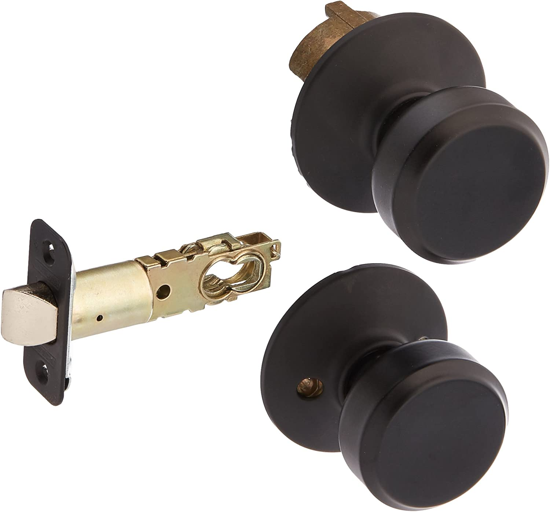 Matte Black Schlage F40PLY622 Plymouth Privacy Lock Door Knob Set