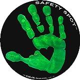 Safety Spot Magnet - Kids Handprint for Car Parking Lot Safety - Black Background (Green)