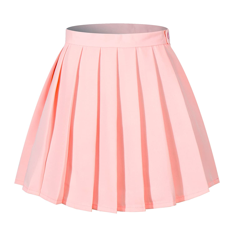 Beautifulfashionlife Womens Japan high Waisted Pleated Cosplay Costumes Skirts