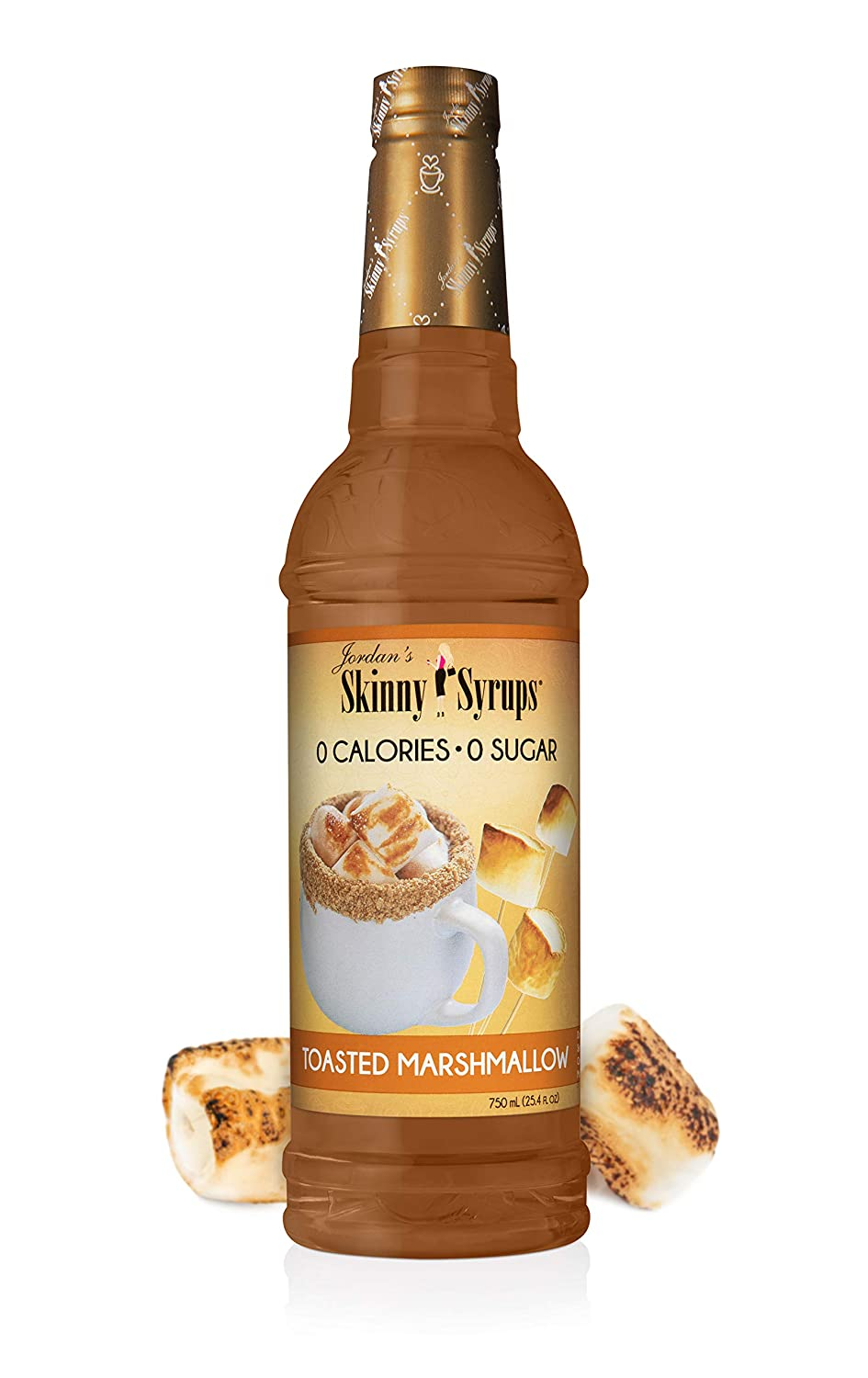 Jordan's Skinny Syrups Toasted Marshmallow, Sugar Free Flavoring Syrup, 25.4 Ounce Bottle