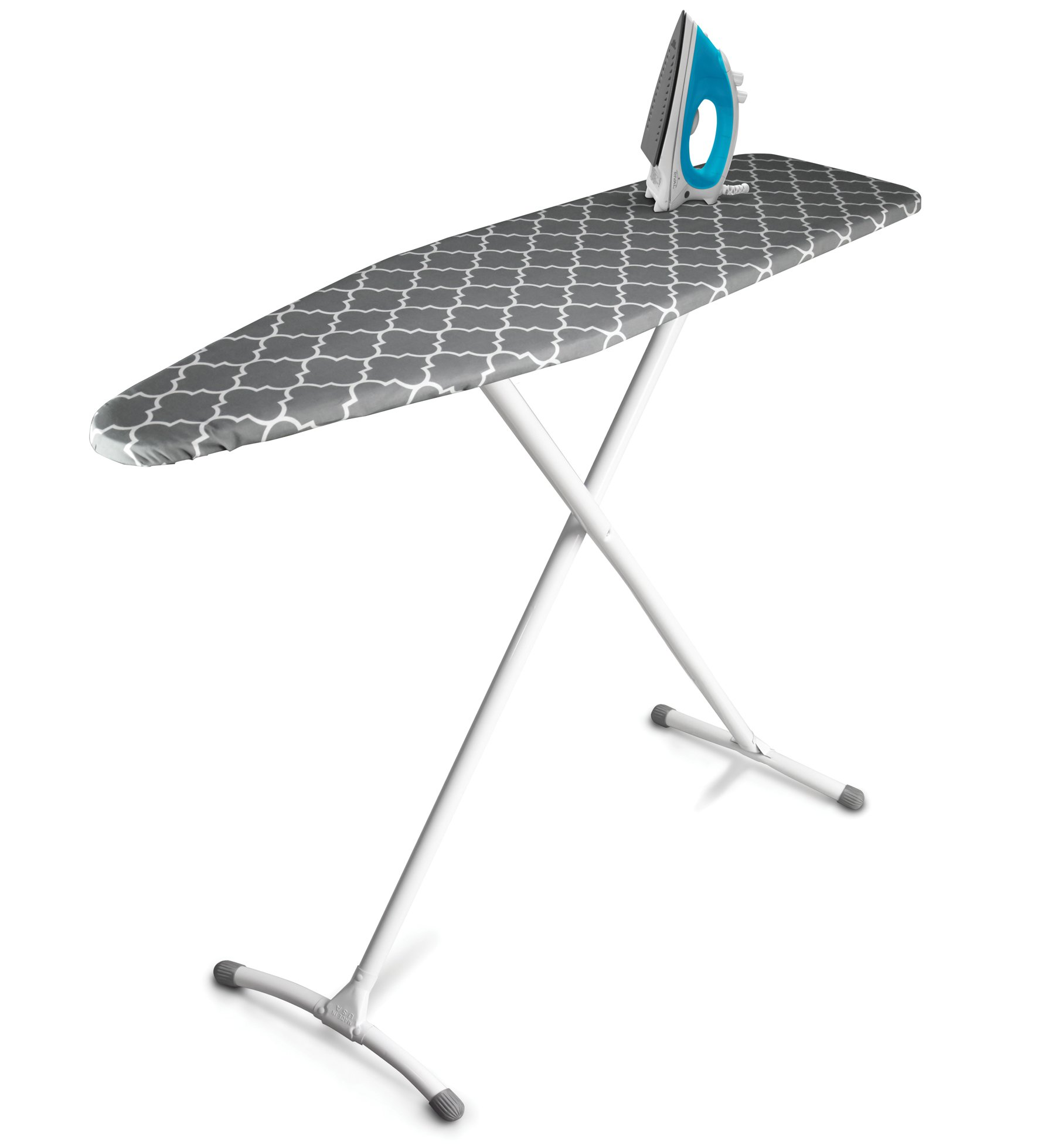 homz contour steel top ironing board extra stable legs. Black Bedroom Furniture Sets. Home Design Ideas