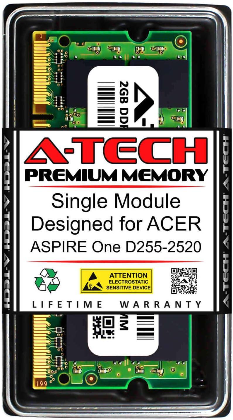 A-Tech 2GB RAM for ACER Aspire ONE D255-2520 | DDR2 667MHz SODIMM PC2-5300 200-Pin Non-ECC Memory Upgrade Module