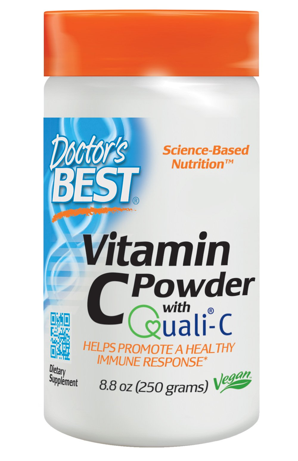 Doctor's Best Vitamin C with Quali-C, Non-GMO, Gluten Free, Vegan, Soy Free, Sourced From Scotland, 250 Grams